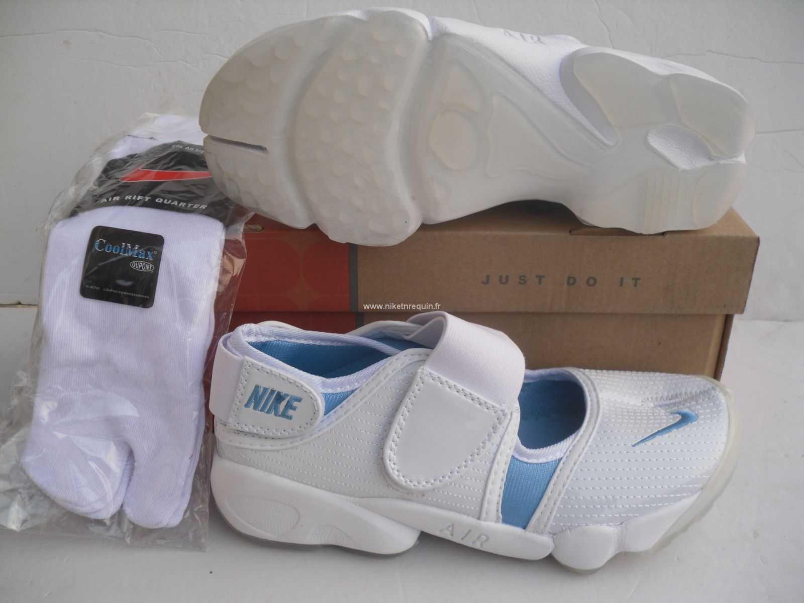 various design latest discount best choice Nouveau moele de chaussures Nike favoris Rift Shox bleu blanc