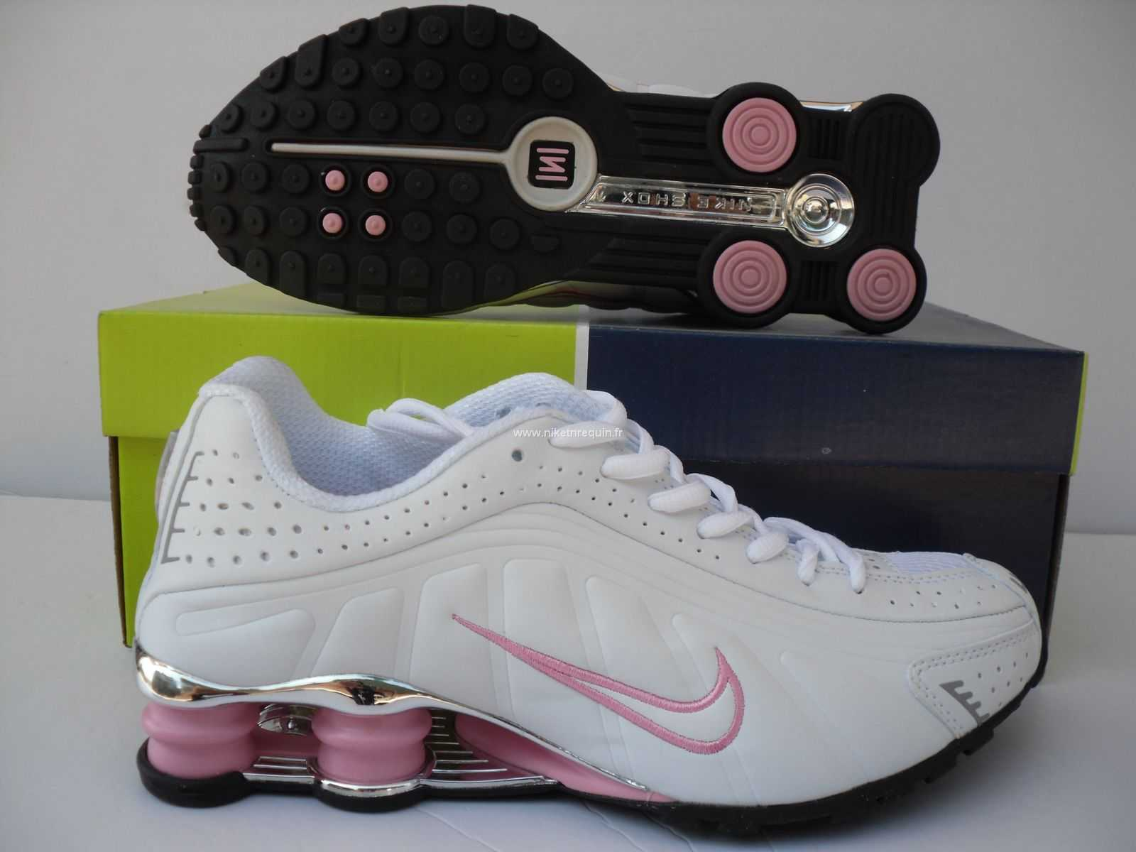 best authentic 5c68f 78492 Nike Shox NZ Chaussures R4 blanc rose